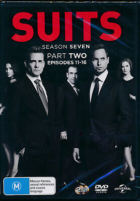 Suits Season 7 Seven Part 2 Two Episodes 11 - 16 DVD NEW Region 4