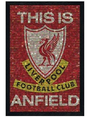 Liverpool FC in schwarzes Holz eingerahmtes This Is Anfield Poster 61 x 91,5 cm