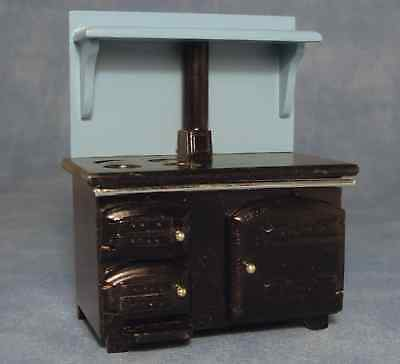 DOLLS HOUSE 1/12th SOLID FUEL STYLE KITCHEN STOVE