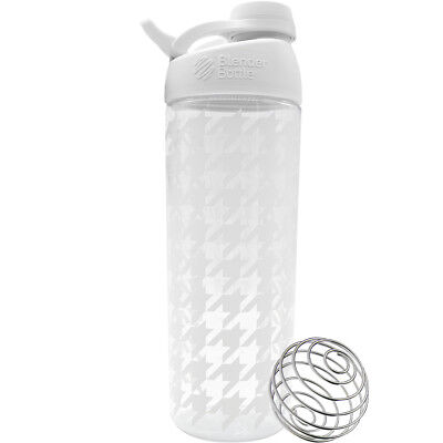 Blender Bottle Sleek 28 oz. Twist-On Cap Shaker Bottle with Loop Top-Houndstooth