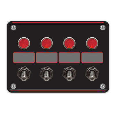 Longacre Racing Products 44865 4 Accessory switch panel with 4 pilot lights