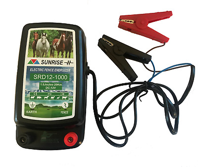Battery Electric Fencer Horse 12v 20km Energizer 1.0J Unit Battery Powered