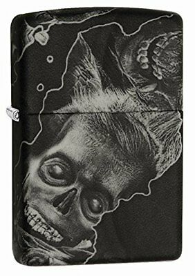 Zippo Zombie Soft Touch Windproof Lighter - Black