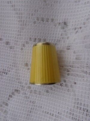 David Andersen Sterling Norway Yellow Enamel Size 3 Thimble Estate Find