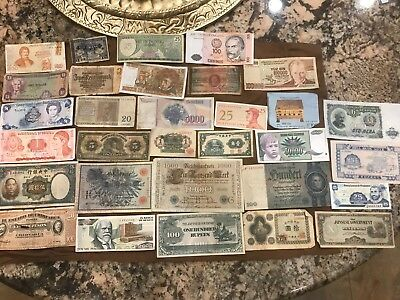 32 Pc. World Currency Paper Money Collection!!!!!!!..starts@ 2.99
