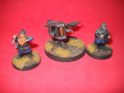 LOTR: Lord of the Rings: nicely painted metal Dwarf Ballista c