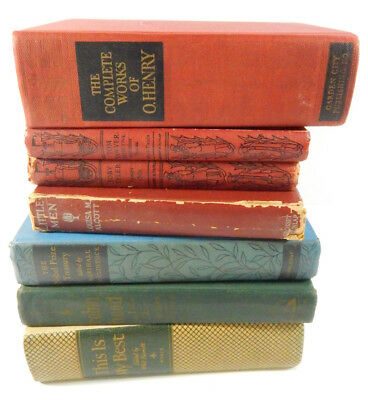 Lot of (7) Vintage Books First & Second Printings 1920's to 1940's Mark Twain