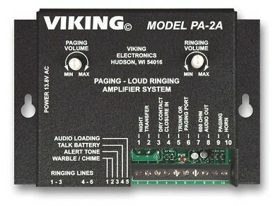 Viking Electronics VK-PA-2A Paging/Loud Ringing Amplifier System