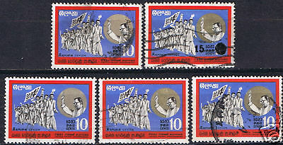 Ceylon #448 & #465 10 cent Victory March & S.W.R.D. 5 USED