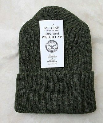 fc22e7f04d8a4c GENUINE US ARMY Military Issue Watch Cap Wool Od Green - Usa Made ...