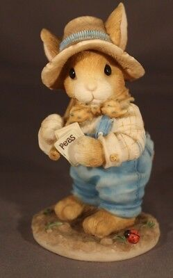 """1996 Enesco My Blushing Bunnies: """"Friendship is the secret to life"""" #204447"""