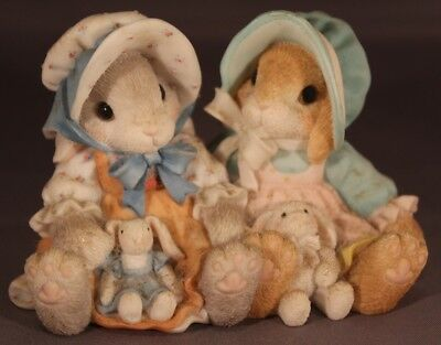 "1998 Enesco My Blushing Bunnies ""Blessings Multiply When Shared"" #470678"