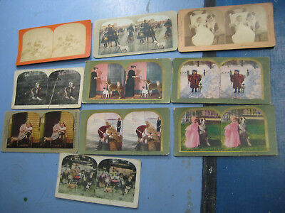 Vintage Stereoview Card Group, All Have Dogs in Them, 1888-1900s Antique, etc