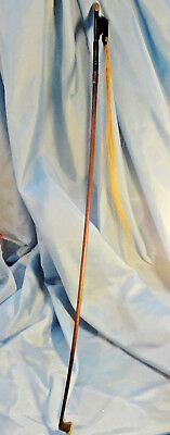 """Old  Violin  Bow  1920 Marked  On  Silver  Trim ... """"as Shown"""". A  Treasure !!?"""