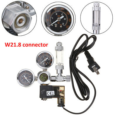 W21.8 Aquarium CO2 Solenoid Valve Regulator Check Magnetic Bubble Counter 220V