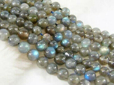 NATURAL Labradorite 6mm Indian gray Round Loose Gemstones Beads 15""