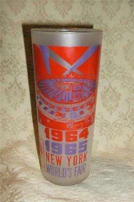 Vintage Frosted Glass 1964 1965 New York World's Fair Circus Parade Souvenir Exc