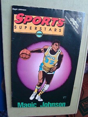 Vintage Revolutionary June Sports Superstars Magic Johnson #3 Comic Book