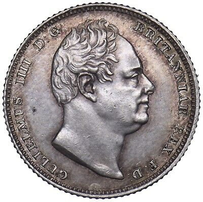1831 Sixpence - William Iv British Silver Coin - Superb