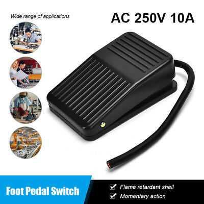 Foot Switch Antislip Industrial Foot Operated Pedal Switch AC250V 10A