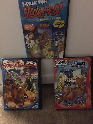 Scooby Doo! Lot Of 3 Dvds. 20 Episodes, 5 Discs No Scratches