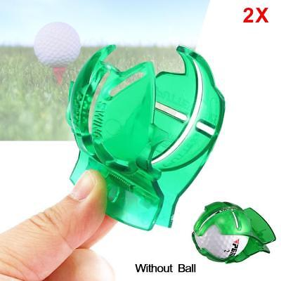 2X Golf Ball Line Clip Marker Pen Template Alignment Marks Tool Putting Aid AE