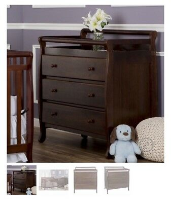 Dream On Me Liberty Collection 3 Drawer Changing Table Espresso