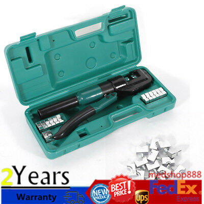 HYDRAULIC LUG CRIMPER TOOL Electrical Battery Terminal Cable Wire 12 mm Stroke