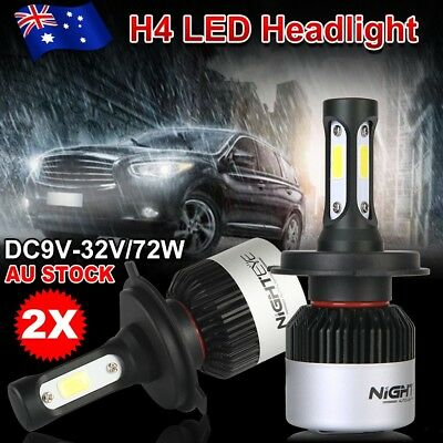 OZ Nighteye 72W 9000LM H4 HB2 LED Headlight Kit Hi/Lo Beam Globe Bulbs 6500K FLC