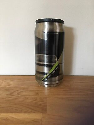 New Genuine Porsche Drivers Selection Thermo Can Silver Black Acid Green Mug Cup