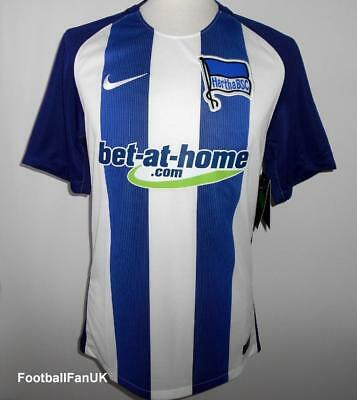 HERTHA BERLIN BSC Nike Home Shirt 2016-2017 NEW Men's Small Heim Trikot Jersey S