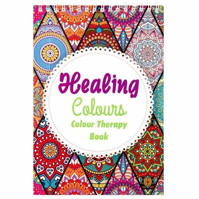 ADULT COLOUR THERAPY BOOK 40 Intricate Patterns Calm Relaxing Art Anti Stress