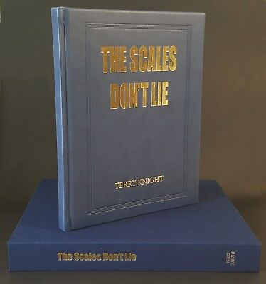 KNIGHT TERRY FISHING BOOK THE SCALES DONT LIE BIG FISH ANGLER de luxe ultra ltd