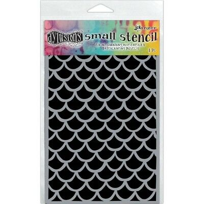 FISHTAIL Scallop Stencil 5x8 Template for Scrapbooks, Journal pages & Collages