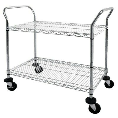 Vogue Serving Cart 2 Shelves Clearing Trolley Kitchen