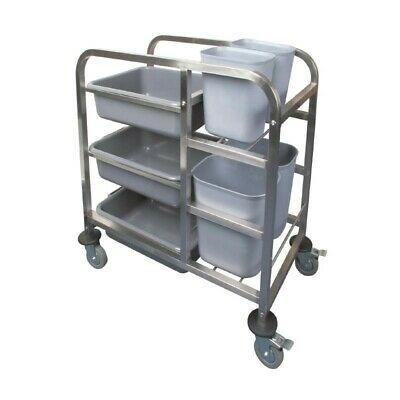 Vogue Clearing Trolley from Stainless Steel, 90x82x44cm Kitchen