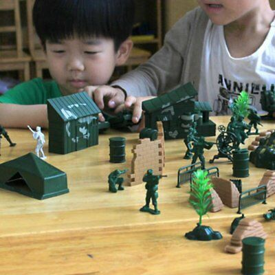 90PCS Plastic Model Playset Toy Soldiers Action Figures Army Men Accessories RG