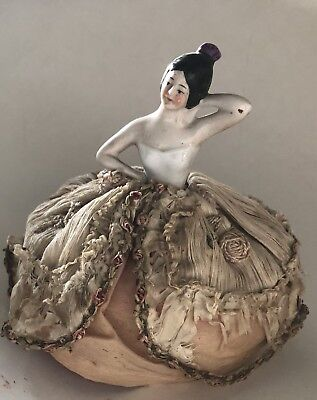 Antique Half Doll Pin Cushion