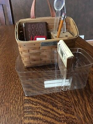 Longaberger 2006 Hostess Appreciation Basket Protector + wood divider