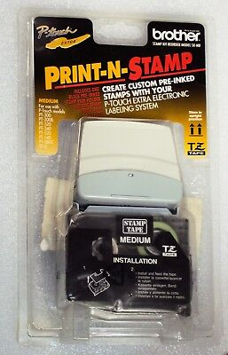 BROTHER P-TOUCH EXTRA Labling New TZ Tape Medium Stamp Model SK-MB