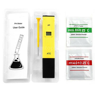 Portable Digital PH Meter Tester Aquarium Pool Water Wine LCD Pen Monitor CHW