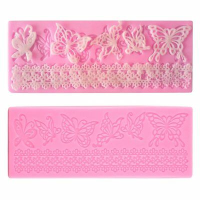 Silicone Embossed Mold Butterfly Lace Fondant Cake Decorating Mould DIY RG