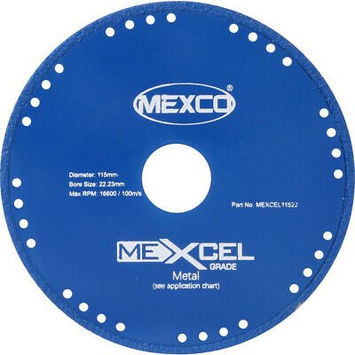 Mexco MEXCEL Metal Cutting Diamond Blades Steel Ductile Iron Angle Grinder Discs