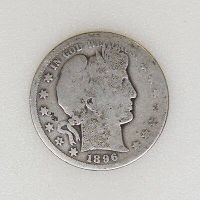 1896-S AG+ Condition Barber Silver Half Dollar Nice Color Tough Date - I-15142 G
