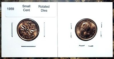 Canada 1959 Small Cent *Rotated Dies* Choice BU UNC Uncirculated Penny!!