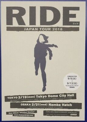 Ride Japan Tour 2018 Original Japanese Flyer Ad Rare
