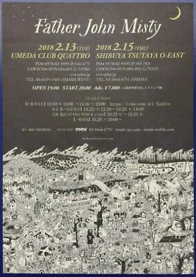 Father John Misty Original 2018 Japanese Tour Flyer Ad Rare