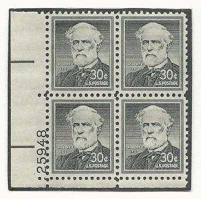 US Civil War Confederate Army General Robert E. Lee 4 Stamp Block MINT CONDITION