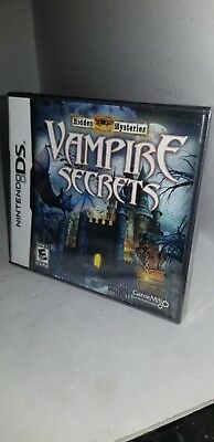NEW factory Sealed Hidden Mysteries: Vampire Secrets (Nintendo DS, 2010)