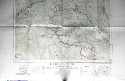 1945 TOPOGRAPHICAL MAP LAKE LOUISE ALBERTA CANADA Dept Mines & Resources